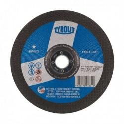 DISCO DESBASTE ACERO/INOX - TYROLIT BASIC - 115X6 MM