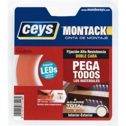 CINTA BD CARA LED MONTACK - CEYS - 10 MX8MM