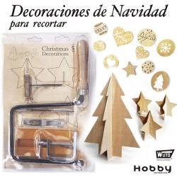 Kit marquetería navidad con herramientas WUTO, 4300 BL
