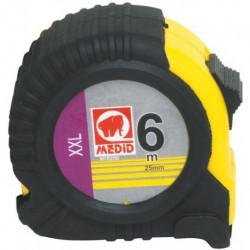 FLEXOMETRO FUNDA GOMA - MEDID - 6MTX25MM