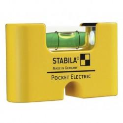 NIVEL BURBUJA MINI ELECTRIC - STABILA POCKET - 70X18X40MM