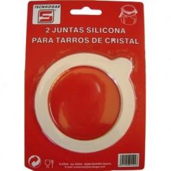 JUNTA SILICONA BOTE CRISTAL 2U - TECNHOGAR - 01502