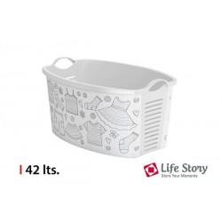 CESTA ROPA BLANCO - LIFE STORY - 42 L
