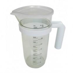 JARRA MEDIDORA PLASTICO C/TAPA - TECNHOGAR - 1,2 L