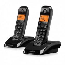 TELEFONO INALAMBRICO DECT DUO - MOTOROLA - 107S1202BLACK