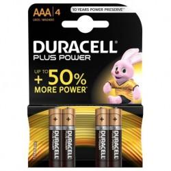 PILA ALCALINA POWERP BL4 LR03-DURACELL-