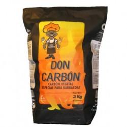 CARBON VEGETAL BARBACOA BOLSA - SEGURVI - 3 KG