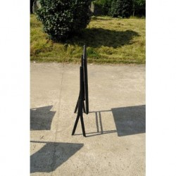 SILLA PLEGABLE RATAN NEGRA - MOOREA - 44.5X55X82
