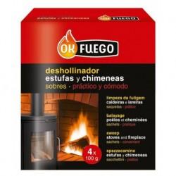 DESHOLLINADOR ESTUFA/CHIMEN - FLOWER - 4X100 G