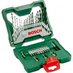 Maletín brocas puntas 33 piezas+soporte BOSCH X-LINE, 2607019325