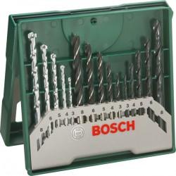 Brocas HSS-piedra-madera 15 piezas BOSCH X-LINE, 2607019675