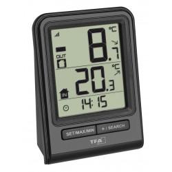 Termómetro digital sensor negro T.F.A., 30.3063.01