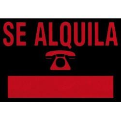 CARTEL PLAST SE ALQUILA ROJO - ROTULAUTO - 500X350 MM