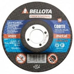 BELLOTA-Disco Abrasivo Corte INOX - METAL - PROFESIONAL 50301-180