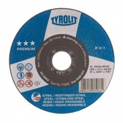 TYROLIT PREMIUM DISCO C H METAL/INOX,115X1 MM
