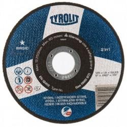 TYROLIT BASIC DISCO C RECTO METAL/INOX,125X1,6MM