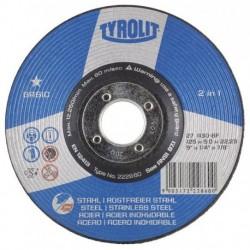 DISCO DESBASTE ACERO 27C-TYROLIT BASIC-115X6 MM