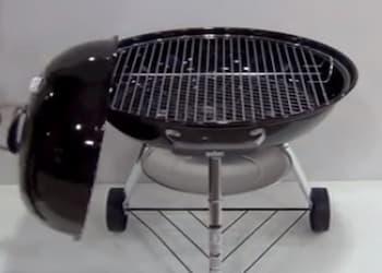 Tapa de acero vitrificado de la bbq weber compact